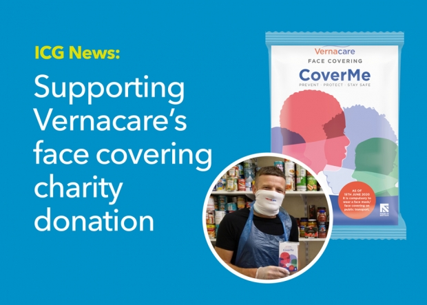 Supporting Vernacare's face covering charity donation