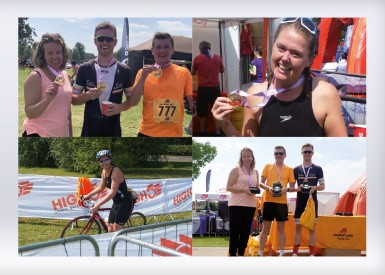 ICG rocks at Cheshire Triathlon