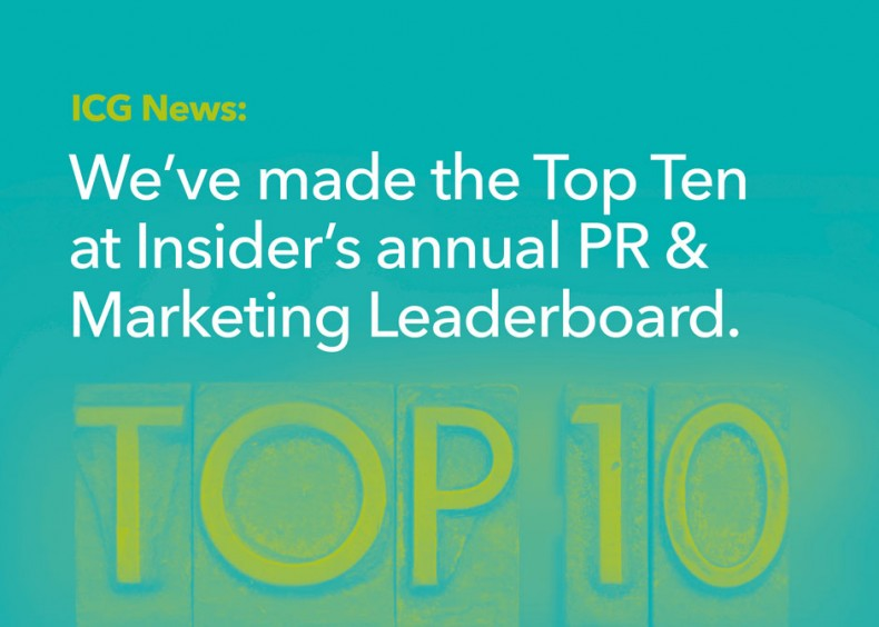 ICG secures top 10 spot in North West Business Insider's PR and marketing leaderboard