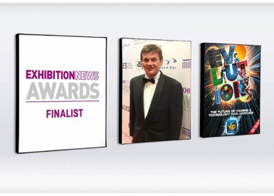 Evolution event branding shortlisted by Exhibition News Awards