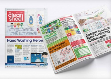 Read all about it! ICG designs 'Clean Sheet' newspaper for client Jangro