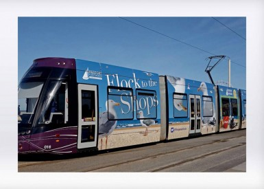 All aboard! ICG designs eye-catching tram wrap for Freeport Fleetwood
